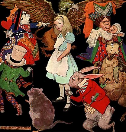 puberty in alice and wonderland While alice's adventures in wonderland may be a wonderful tale written simply  for the entertainment of the real-world alice, it should be firmly.