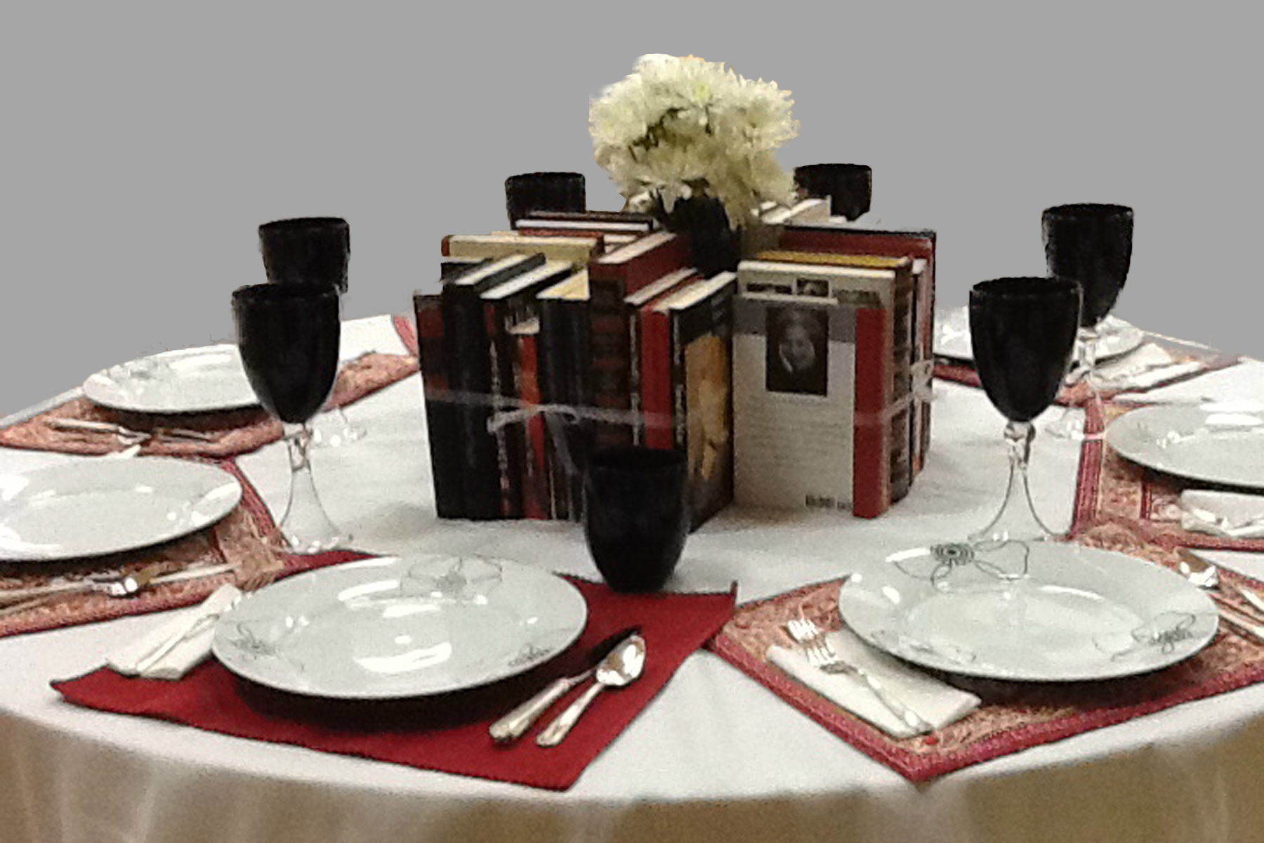 Black History Centerpiece Ideas : Red black and white book centerpieces the bookshelf of