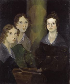 The Brontë Sisters, by Patrick Branwell Brontë from Wikimedia Commons, public domain image restored