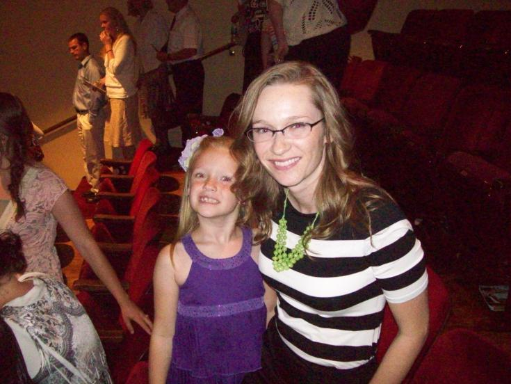 My daughter Olivia and I at a performance of Wicked this summer.