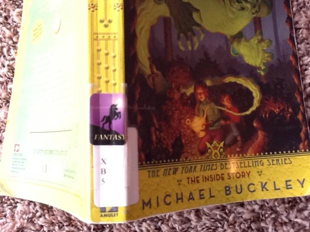 fantasy sticker library book
