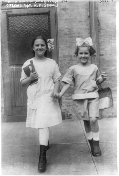 404px-New_York_City_school_children._2_girls_with_shining_faces,_opening_day