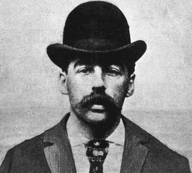 Mugshot of Herman W. Mudgett, a.k.a. Dr. Henry Howard Holmes