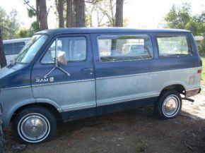 blue and grey van