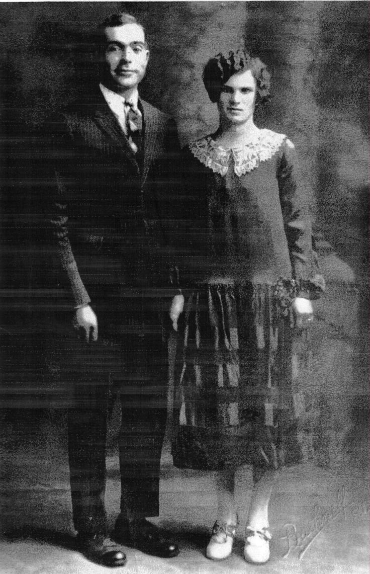My great grandmother Antonia Montosa on her wedding day with Felix Juanes, my great grandfather.